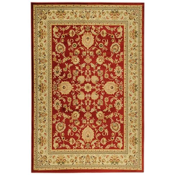 Ottomanson Traditional Yale Mahal Burgundy Area Rug (5'3 x 7'3)