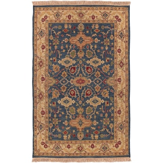 Hand-knotted Fes Semi-Worsted New Zealand Wool Rug (9' x 12')