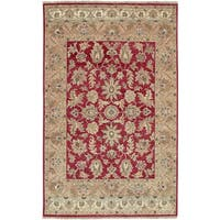 Hand-knotted Tangier Brick Red New Zealand Hard Twist Wool Area Rug (3' 9 x 5' 9)