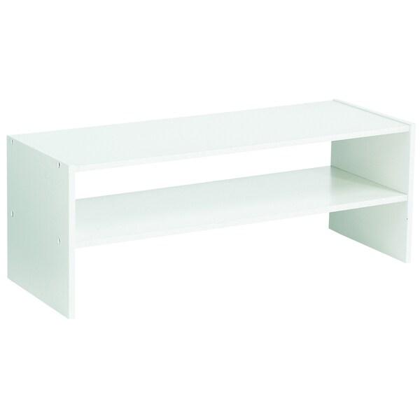 akadaHOME 31-inch Wide White Horizontal Organizer