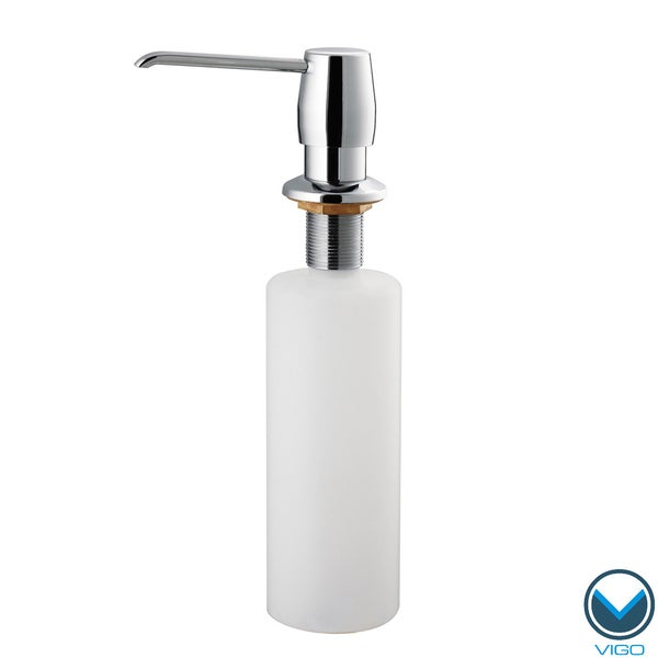 VIGO Chrome Finish Kitchen Soap Dispenser