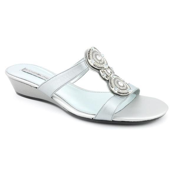 Bandolino Women's 'Feliciana' Leather Sandals - Wide (Size 10)