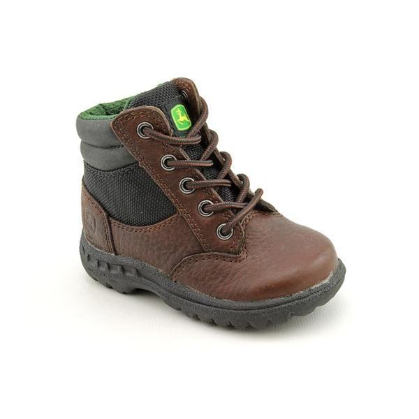 John Deere Boy's 'JD1101' Leather Boots (Size 4.5)