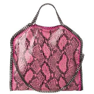 Stella McCartney 'Falabella' Small Fuchsia Faux Python Tote Bag