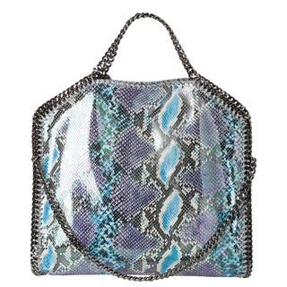 Stella McCartney 'Oleographic' Small Blue/ Purple Faux Python Tote Bag