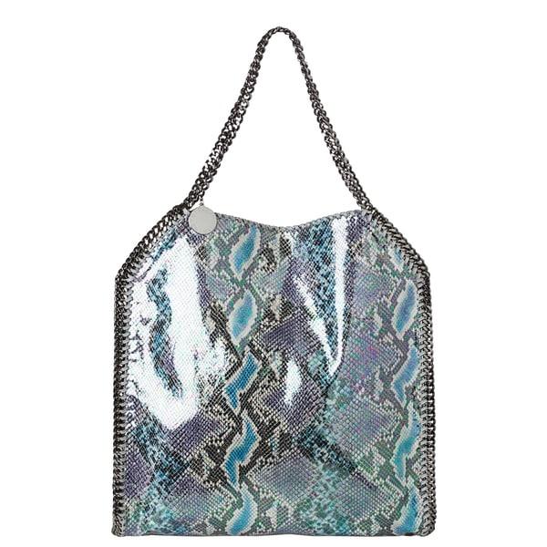 Stella McCartney 'Oleographic' Large Purple/ Blue Faux Python Tote Bag