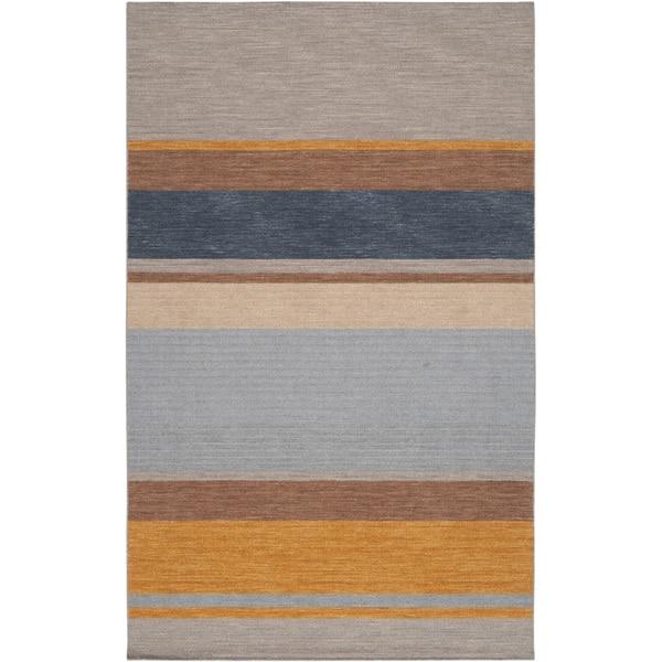 Hand-woven Mellal Grey Wool Rug (2' x 3')