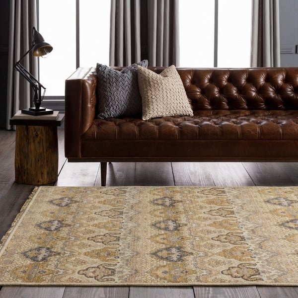 """Hand-knotted Settat Beige New Zealand Wool Area Rug - 5'6"""" x 8'6"""""""