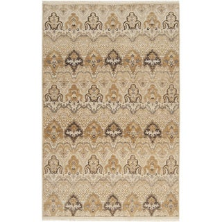 Hand-knotted Settat Beige New Zealand Wool Rug (9' x 13')