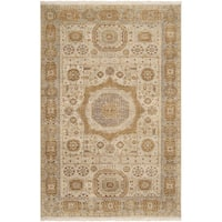 Hand-knotted Larache Beige New Zealand Wool Area Rug - 2' x 3'