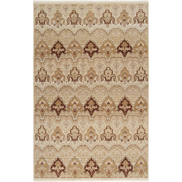 Hand-knotted Settat1 Desert Sand New Zealand Wool Area Rug - 5'6 x 8'6