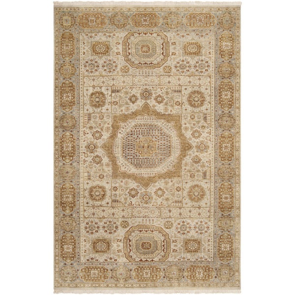 Hand-knotted Larache Ivory New Zealand Wool Area Rug - 5'6 x 8'6
