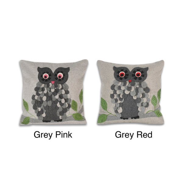Fenton Owl 16-inch Decorative Pillow