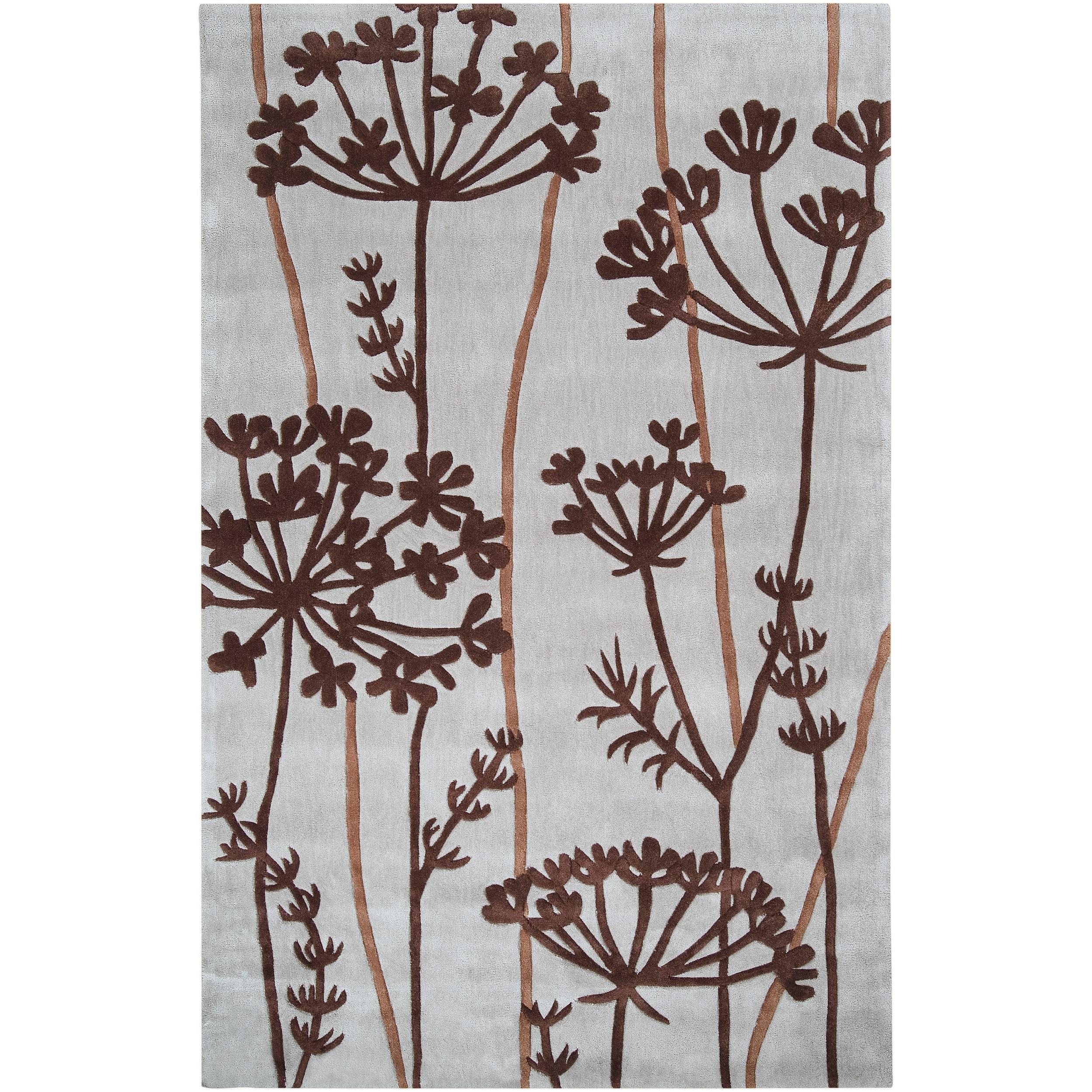 SURYA Hand-tufted Kacem Pigeon Grey Rug (9' x 13') (9 ft....