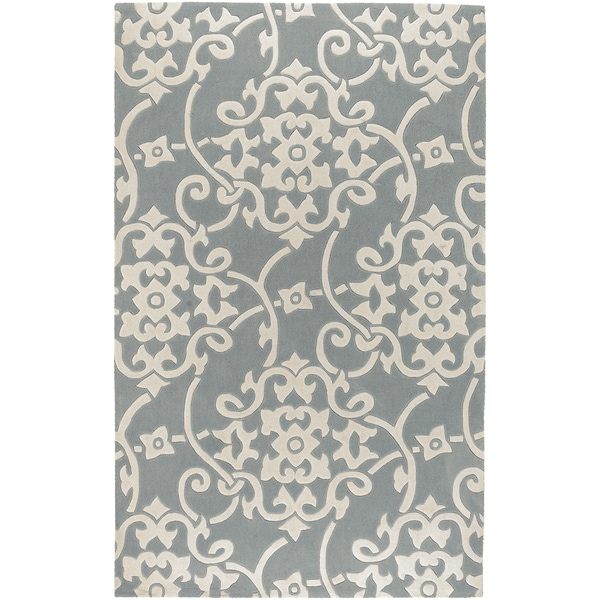 Hand-tufted Teima Blue Grey Rug (9' x 13')