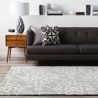 Hand-tufted Teima Blue Grey Area Rug - 9' x 13'