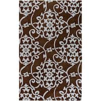 Hand-tufted Teima1 Dark Brown Area Rug - 9' x 13'
