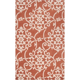 Hand-tufted Teima3 Orange Rug (9' x 13')