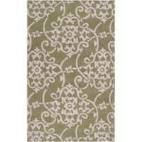 Hand-tufted Teima2 Turtle Green Area Rug - 9' x 13'