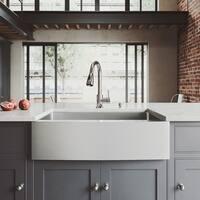 VIGO Bedford Stainless Steel Kitchen Sink and Weston Faucet Set
