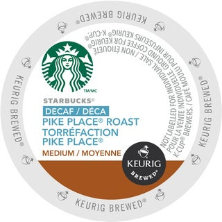 Starbucks Decaf Pike Place Roast Coffee K-Cups for Keurig Brewers (Case of 24)