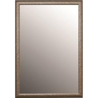 Round Top Aged Silver Mirror