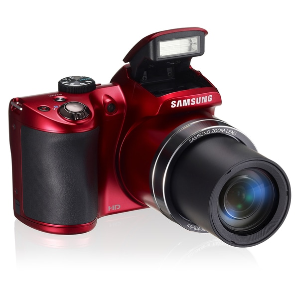 Samsung WB100 16.2MP Red Digital Camera