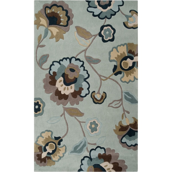 Hand-tufted Andenne Sky Blue Rug (2' x 3')