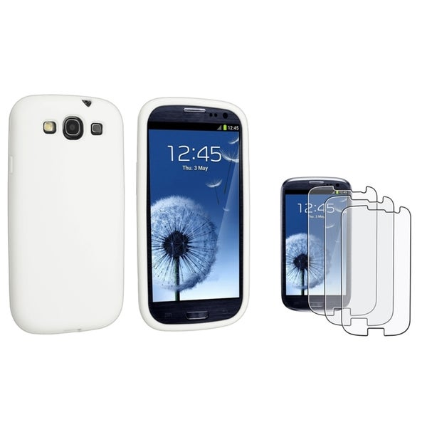 BasAcc Silicone Case/ Anti-glare Protector for Samsung Galaxy SIII/ S3