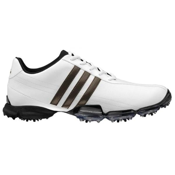 hot sale online d56d2 9e4cd Shop Adidas Men s  Powerband Grind  White Golf Shoes - Free Shipping Today  - Overstock - 7626021