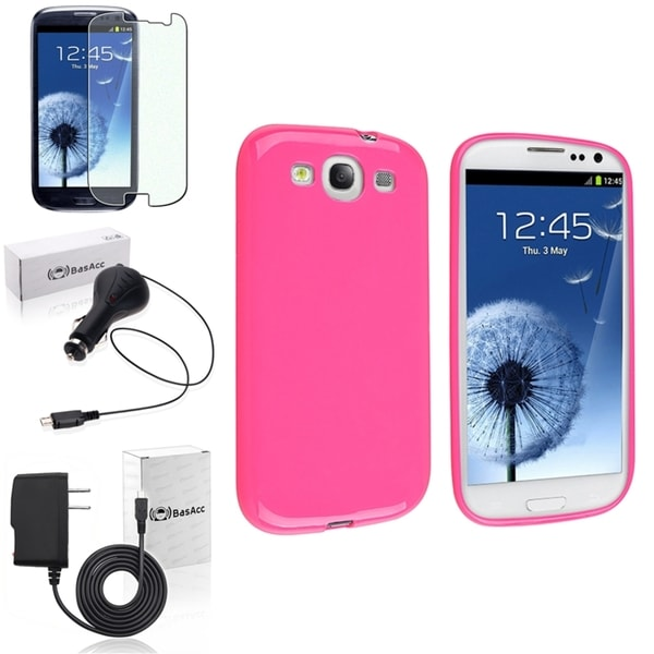 INSTEN Phone Case Cover/ Screen Protector/ Chargers for Samsung Galaxy SIII/ S3