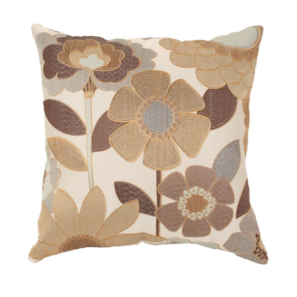 Acadia Modern Floral 18-inch Throw Pillow