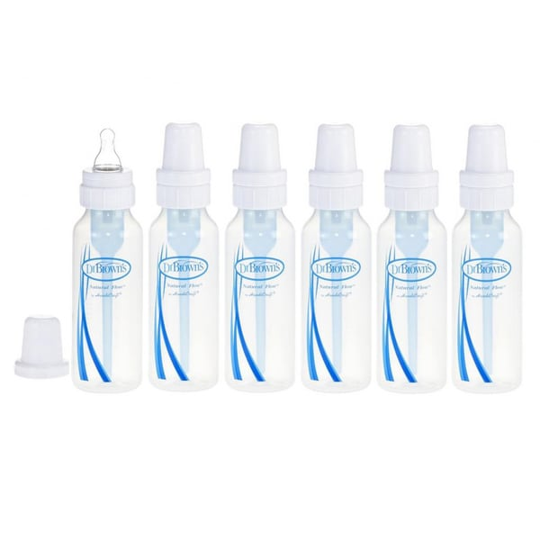 Dr. Brown's Natural Flow Standard 8-ounce Glass Baby Bottles (Pack of 6)