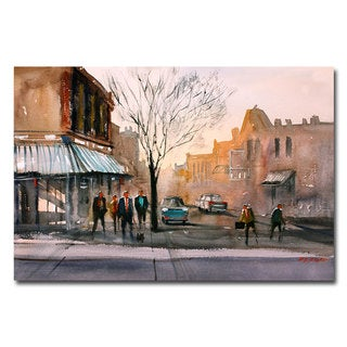 Ryan Radke 'Main Street Steven's Point' Canvas Art