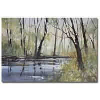Ryan Radke 'Pine River Reflections' Canvas Art