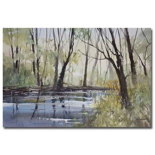 Ryan Radke 'Pine River Reflections' Canvas Art
