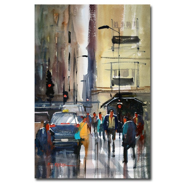 Ryan Radke 'Rush Hour II - Chicago' Canvas Art