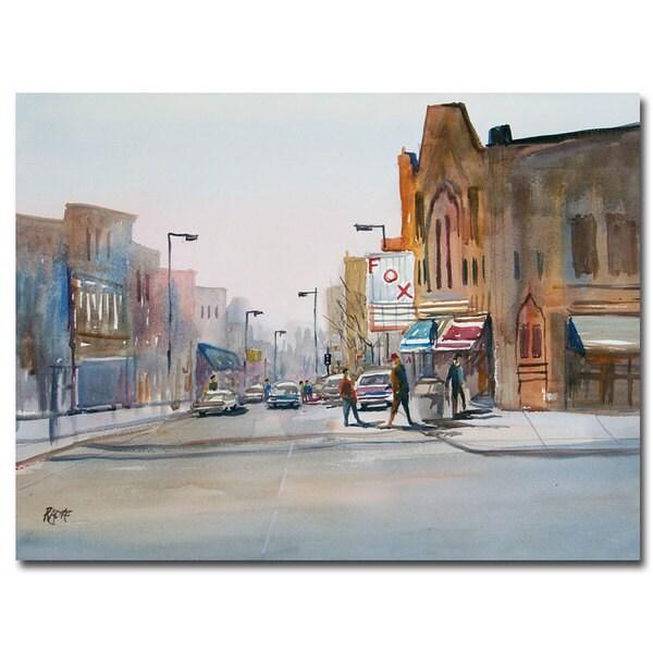 Ryan Radke 'Steven's Point Downtown' Canvas Art