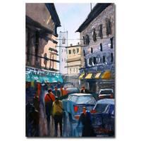 Ryan Radke 'Strangers in Rome' Canvas Art - Multi