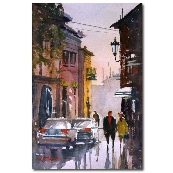 Ryan Radke 'Street Strolling in Greece' Canvas Art