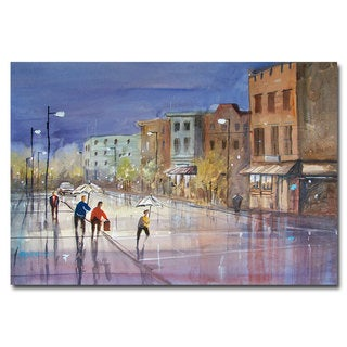 Ryan Radke 'Summer Showers in Green Bay' Canvas Art