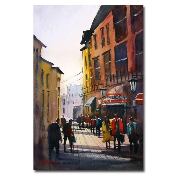 Ryan Radke 'Tourists in Italy' Canvas Art
