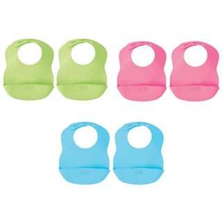 Kiddopotamus by Summer Infant Bibbity Rinse & Roll Bibs (Pack of 2)