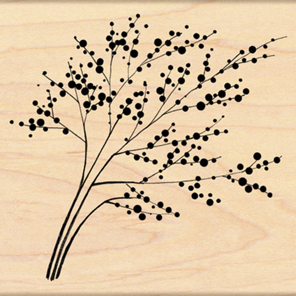 "Penny Black Rubber Stamp 4""X4""-Winter Berries"