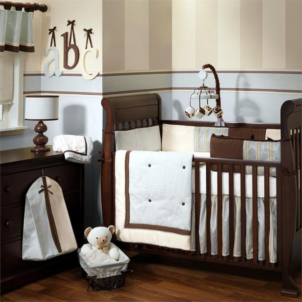 Lambs & Ivy Park Avenue Baby 5-piece Crib Bedding Set