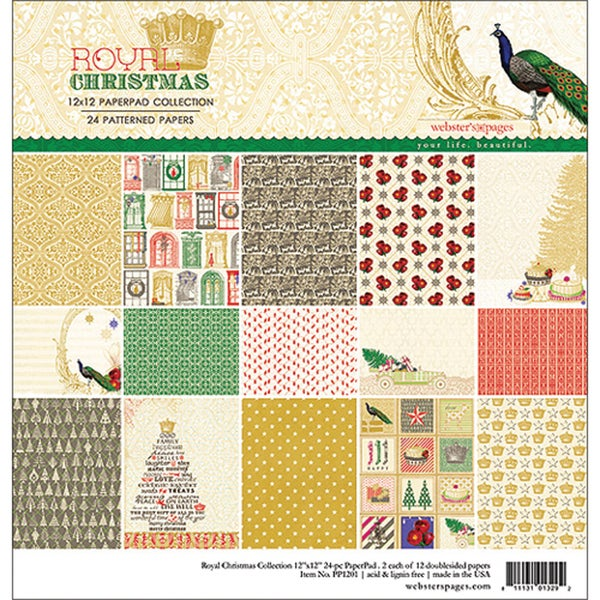 Royal Christmas Collection Pad 12X12in 24 Sheets
