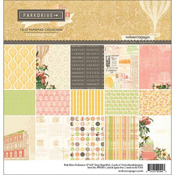 Park Drive Collection Pad 12X12in 24 Sheets