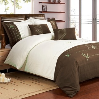 Superior Olivia 7-piece Embroidered Microfiber Duvet Cover Set