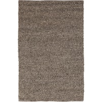 Hand-woven Iguala Solid Casual Brown Wool Area Rug (5' x 8')