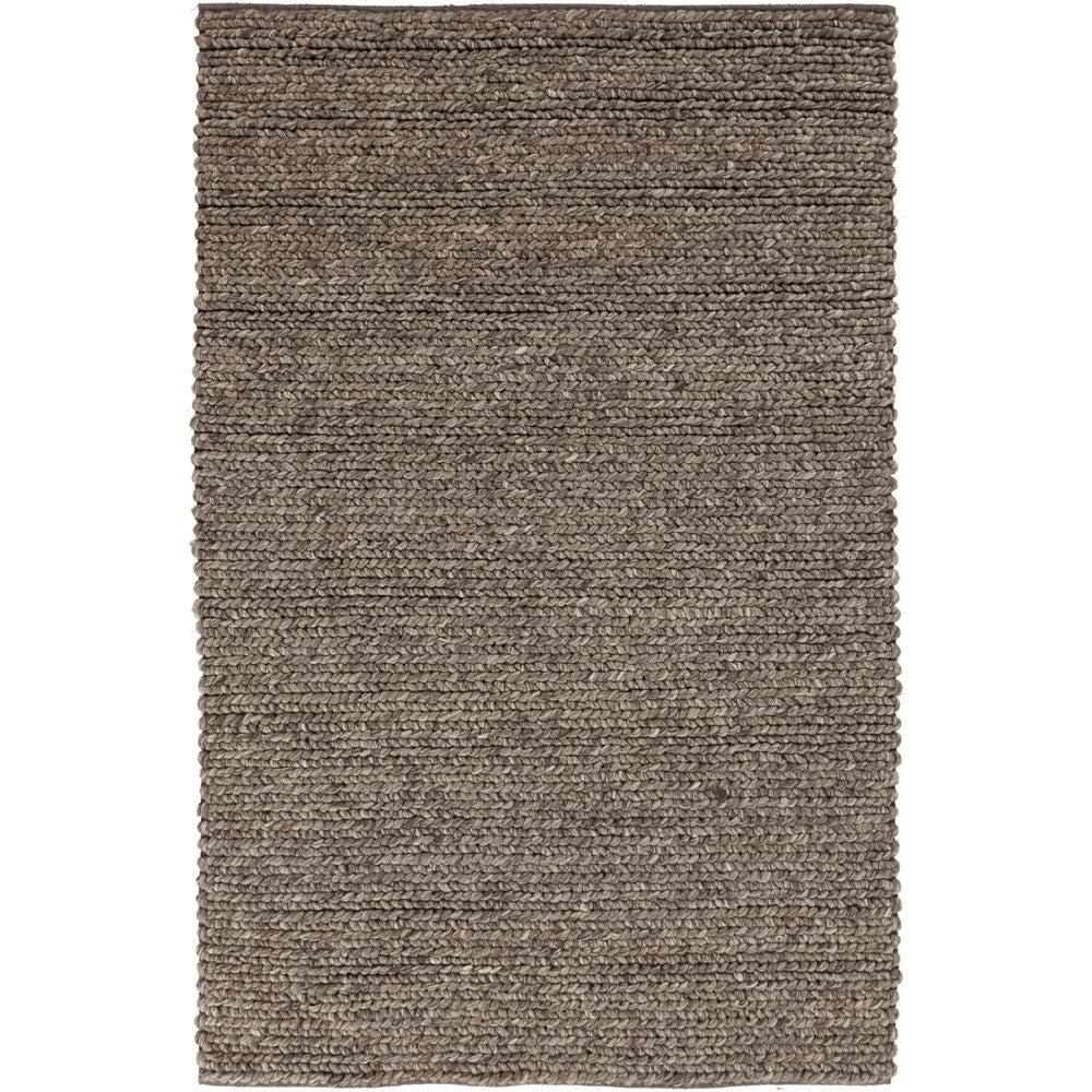 Hand-woven Iguala Solid Casual Brown Wool Rug (3'3 x 5'3)